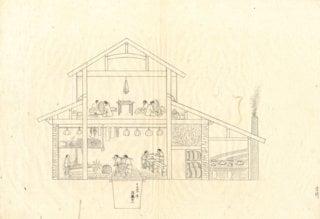 Childbirth facilities: Painting by Shinzaburo Miyazaki